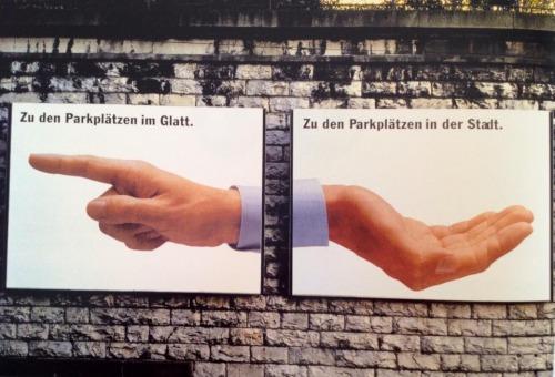 Reklame, die wir gerne öfter sähen, heute: Einkaufszentrum Glatt. | kult